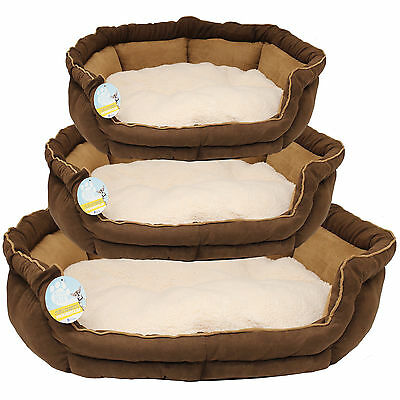 Luxury Soft Fleece Dog/puppy/cat/pet Bed/cushion In Small/medium/large Washable