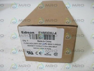 Lot Of 2 Edison Ehm3Diu-4 Fuse Holder *new In Box*