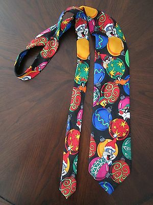 Looney Tunes Necktie Taz Tweety Bugs Sylvester Daffy Holiday Warner Brothers
