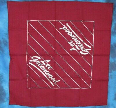 DEADSTOCK vintage 80s LEE GREENWOOD CONCERT BANDANA handkerchief country tour