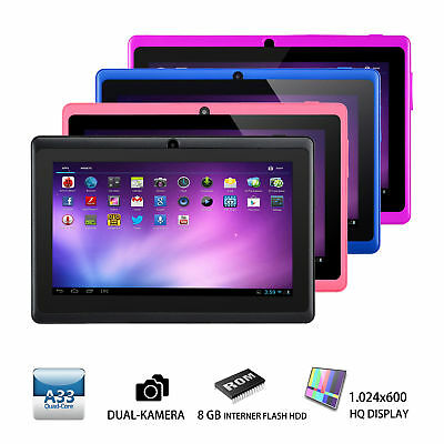 """7"""" Zoll Quad Core Dual Kamera 8GB Android 4.4 Touchscreen WIFI Tablet PC"""