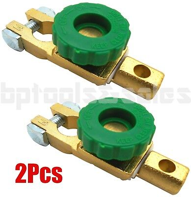 (2) Auto Battery Link Terminal Quick Cut-off Disconnect Master Kill Shut Switch