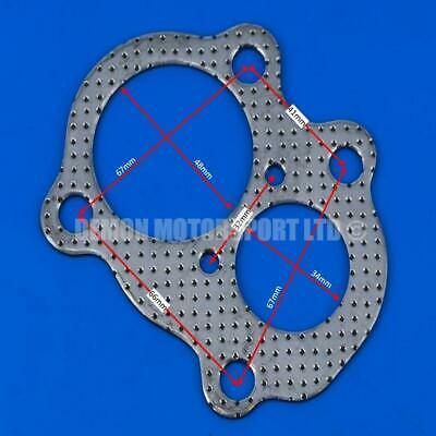 Twin Port Turbo to Exhaust Downpipe Outlet Gasket (4 Bolt) With Screamer Hole