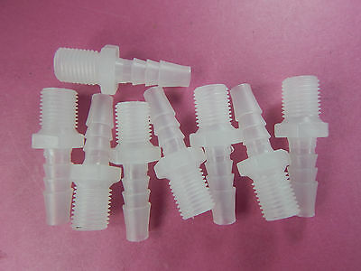 """8 of 7.9mm barb to G1/4"""" pipe ftting, plastic connector, hose coupling, adaptor"""