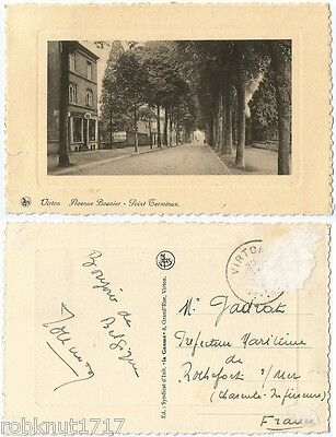 CPA postcard commerce Point Terminus Avenue Bouvier VIRTON Belgique [563 A]