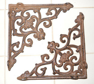 12 Cast Iron Antique Style ARROW Brackets, Garden Braces Shelf Bracket