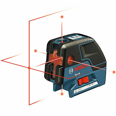 Bosch Tools 5-Point Self Leveling Alignment Cross-Line Laser GCL25 New