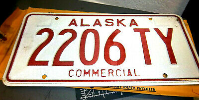 Alaska Commercial Truck License Plate 1976 Issue 2206 TY, cool collectible