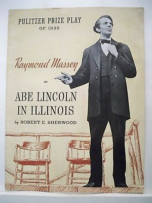 ABE LINCOLN IN ILLINOIS Souvenir Program RAYMOND MASSEY 1939