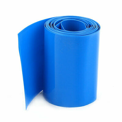 2Meter 64mm Width PVC Heat Shrink Wrap Tube Blue for AA Battery Pack