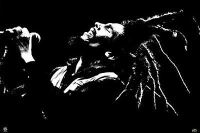 "Bob Marley POSTER ""Dreads, Silhouette, Live Performance"" BRAND NEW Licensed Art"