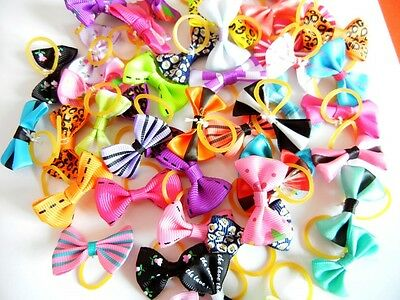 500pcs Wholesale New Assorted Pet Dog Hair Bows Cat Puppy Grooming Accessories