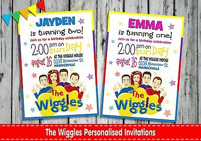 The Wiggles Birthday Party Supplies Personalised Invitations Cards Emma Lachlan