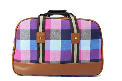 Hospital Bag - Pre Packed for Labor and Delivery - Signature Pink & Blue Plaid M