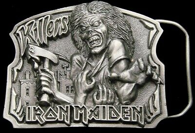 Oe30143 Vintage 1981 **iron Maiden - Killers** Rock Music Band Pewter Buckle