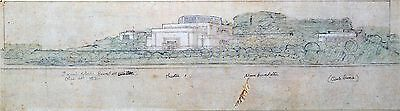 Frank Lloyd Wright Lithograph XXL Theater Aline Barnsdall Olive Hill L.A. 1915