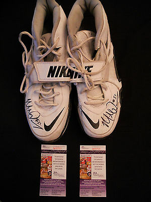 Mike Pouncey Signed Miami Dolphins Game Used Nike Turf Shoes W/jsa Coa Probowl!