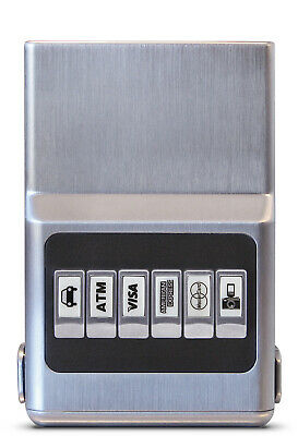 ACM Wallet Credit Card Organizer- RFID Protection Anti-Theft, All Silver