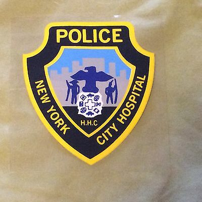 NYPD New York City HHC HOPITAL Police Inside Window Decal Sticker NOS