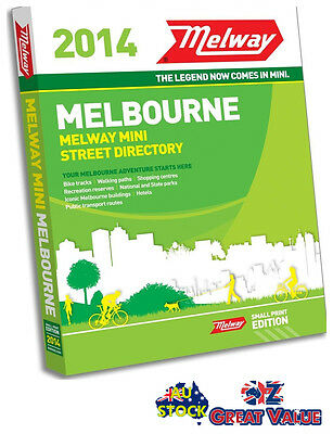 Melway Edition 2014 Small Print Edition Melbourne Street Directory RRP $39.99