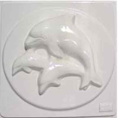 Dolphins Plaster Mould/Mold/Moulds/Molds 3222