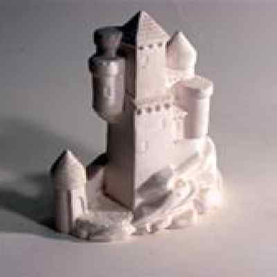 Castle latex Mould/Mold plaster/candle/soap 1076