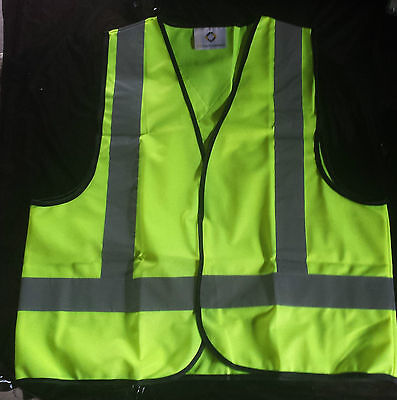 High Visibility Work Safety Vest Fluro Yellow Sizes. Small or Medium  $6.99 ea