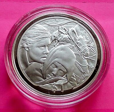 2003 New Zealand Silver Lord Of The Rings -Flight To Ford  $1  Proof Coin + Coa