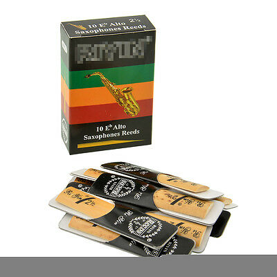 10pcs Alto Sax Reeds Reed For Riyin Saxophone 2.5 Gift Useful Traditional