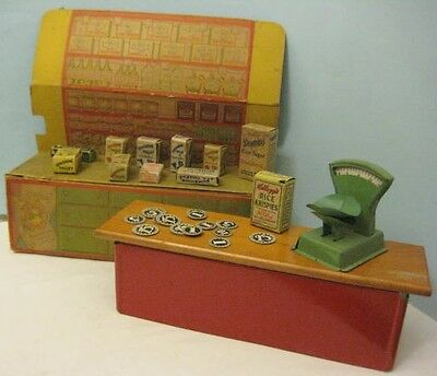 Antique Tin & Paper Toy Sunshine Valley Grocery Store Fulton Illinois 1930s RARE
