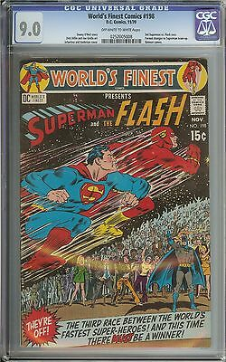 World's Finest Comics #198 Cgc 9.0 Ow/wh Pages // 3Rd Superman Vs. Flash Race