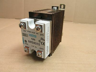 CROUZET GN 84134010 SOLID STATE RELAY 25 AMP 24-280 VAC 3-32 VDC with HEAT SINK