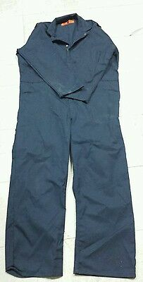 Red Kap CT10NV4 Men's Navy Blue Coveralls Size 48-REG and 48-M