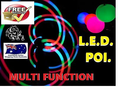 All new LED Glow POI soft ball bright full colour multifunction with strobe fire