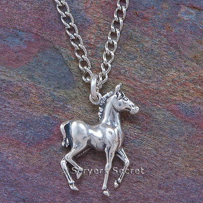 925 sterling silver COLT BABY HORSE Charm Pendant Equestrian choice of Necklace