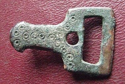 Authentic Ancient Artifact > Medieval Belt Fitting Strap End Buckle  ALS 103