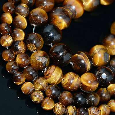 Natural Tiger Eye Gemstone Round Beads 15.5''2mm 4mm 6mm 8mm 10mm 12mm 14mm 16mm