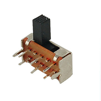 10 x AC 50V 0.5A On/On 2 Position 2P2T DPDT Miniature Slide Switch 6 Pin SK22H03