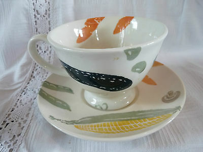 Royal Winton Kitchen Garden Large Breakfast Cup and Saucer (2 available)