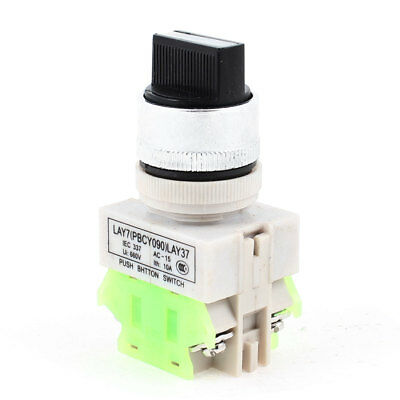 On-OFF-ON DPST 3 Position Rotary Select Selector Switch 660VAC 10A