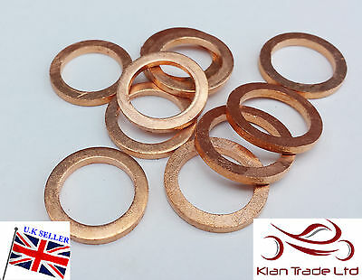 100 Piece Brakes Oil Drain Plug 10mm M10 Copper Crush Washers Banjo Turbo