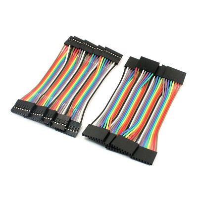 10pcs 2.54mm Pitch 8Pin-8Pin F/F Solderless Jumper Cable Wire Connector 10cm