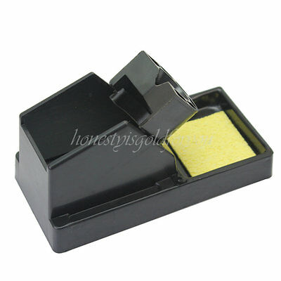 Plastic Rectangle Electric Solder Soldering Welding Iron Stand Holder Black