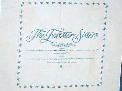 DEADSTOCK vintage 80s THE FORESTER SISTERS CONCERT BANDANA handkerchief country