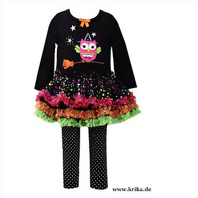 BONNIE JEAN 2tlg.SET Kleid & Leggings WITCH OWL B25436PL MädchenOutfit Hexe Eule
