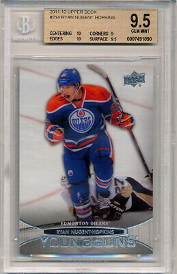 2011-12 Upper Deck Young Guns Ryan Nugent-Hopkins Rookie Graded BGS 10-9-10-9.5