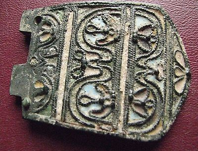 Authentic Ancient Artifact > Byzantine Enameled LARGE Belt Buckle ALS 23