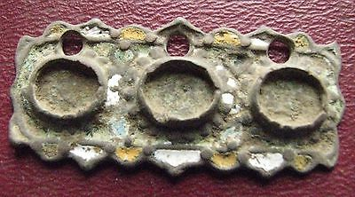 Authentic Ancient Artifact   Byzantine Enameled Belt Decoration Buckle ALS 21