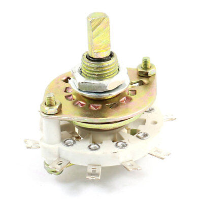 White Ceramic 2P4T 2 Pole 4 Throw Band Channel Rotary Switch Selector
