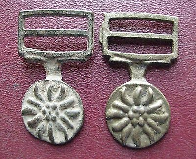 Authentic Ancient Artifact   2 Medieval Belt Fittings Buckles ALS 83